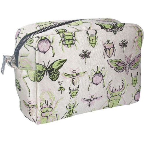 Insects jacquard cosmetic pouch