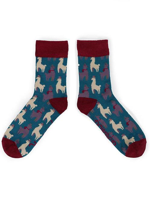 Mens Llama Socks