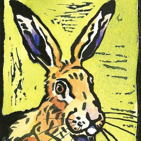 The Hare Greeting Card And Coaster