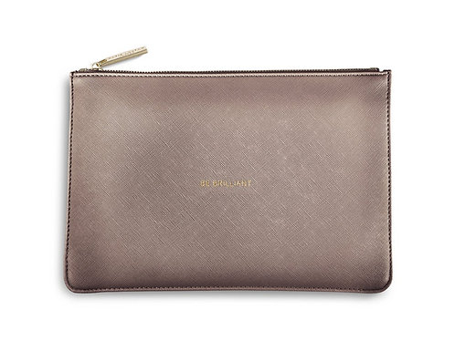 Be Brilliant perfect pouch- metallic rose gold