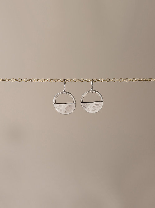 Mini inner circle drop earrings