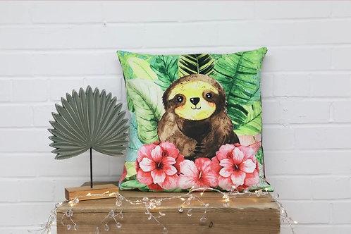 Sloth Velvet Cushion