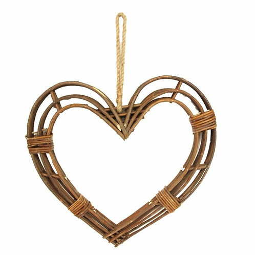 Small twig hanging heart wreath