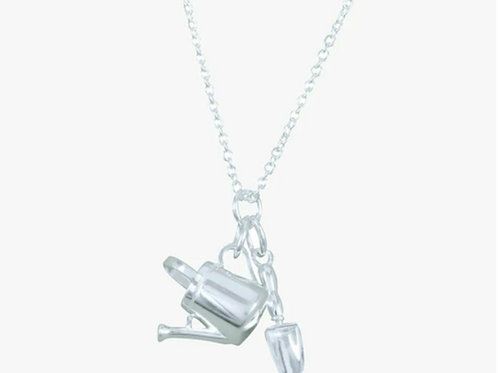 Sterling silver garden charm necklace (DC03)