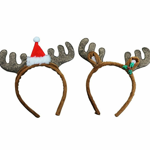 Fabric glitter antlers (37667)