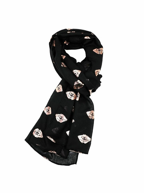 Rose gold kisses scarf