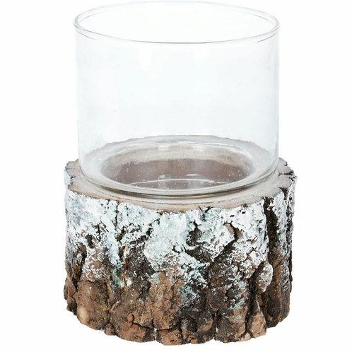 Resin log tealight holder - 2 sizes (50967)