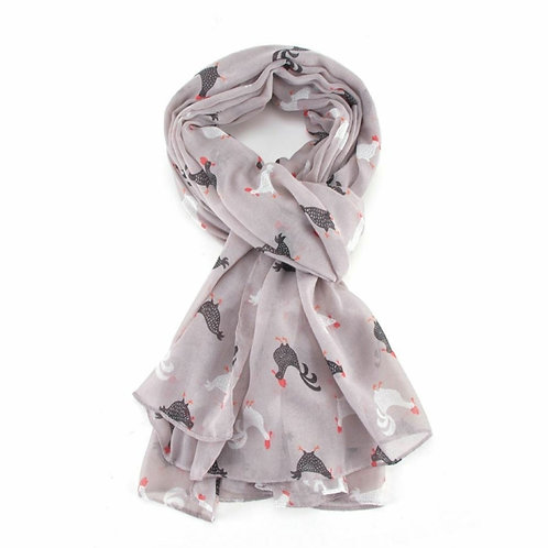 Rooster print scarf