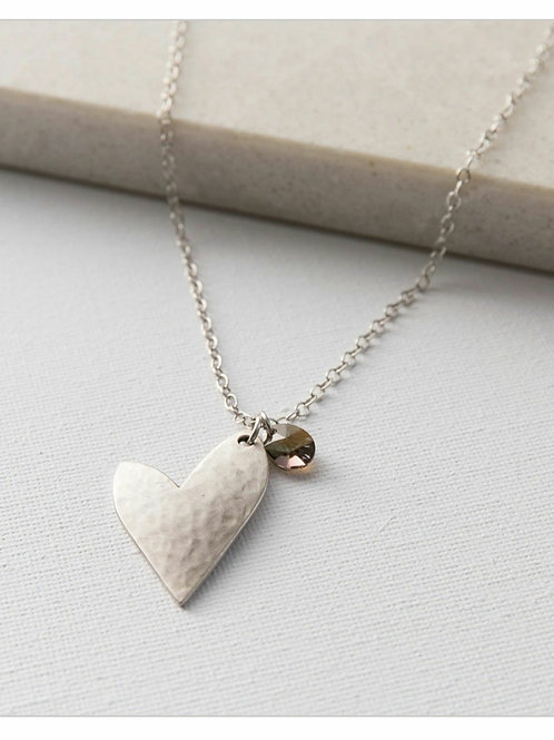 True love crystal necklace