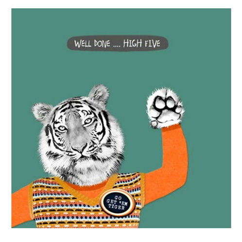 Well done tiger -Greeting Card