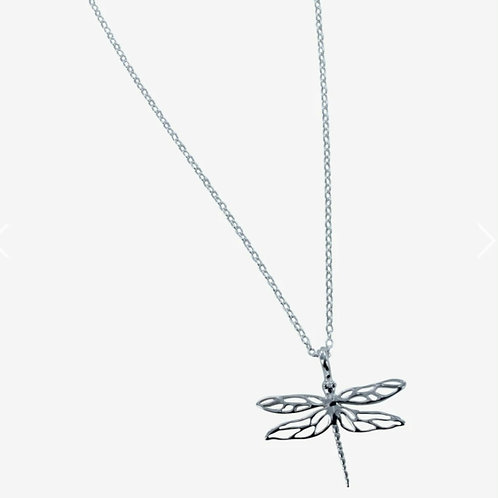 Sterling silver mayfly necklace (BB71)