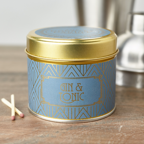 Gin and tonic tin candle- Happy hour collection