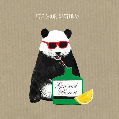 Gin and bear it - greetings card