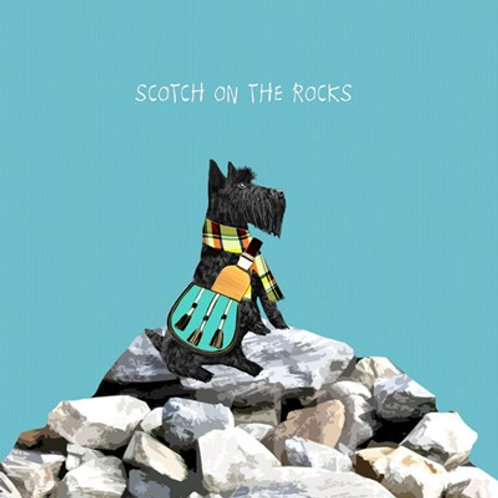 Scotch on the rocks -Greeting Card