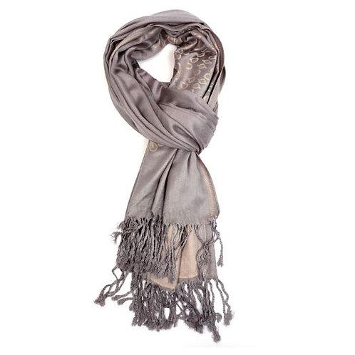 Gold teardrop scarf (paschmina)
