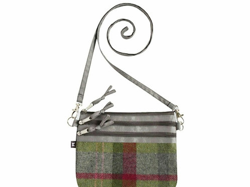 Pouch bag- Stone moss tweed