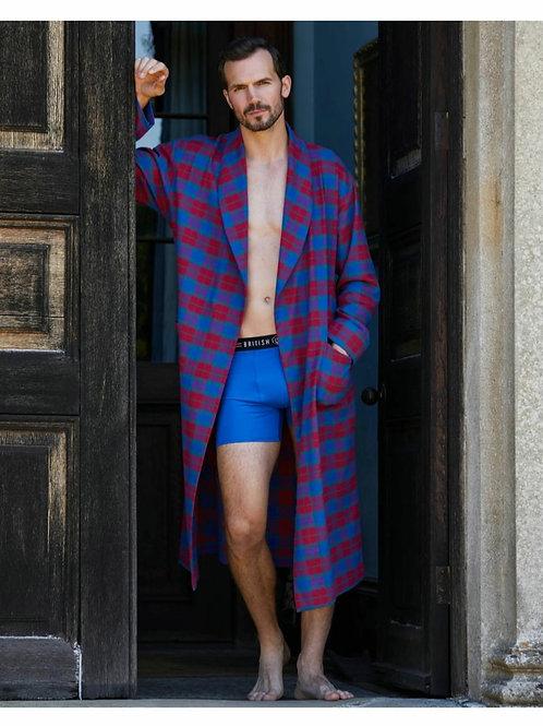 Bordeaux men's brushed cotton men's robe