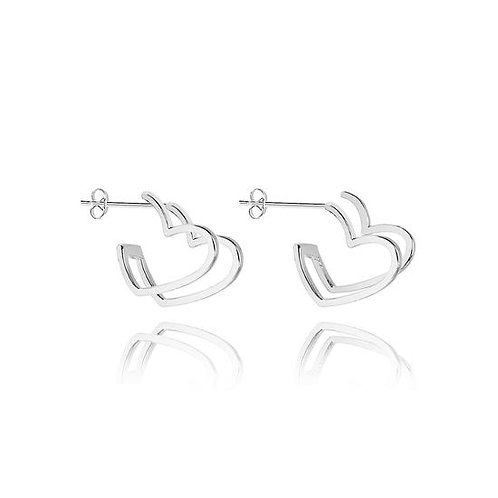 Cassie heart hoop earrings