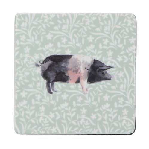Ceramic pig coaster