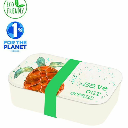Turtle eco friendly bamboo lunch box