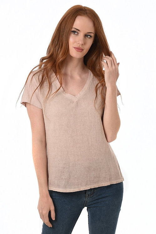 Texture v neck top  (available in different colourways)