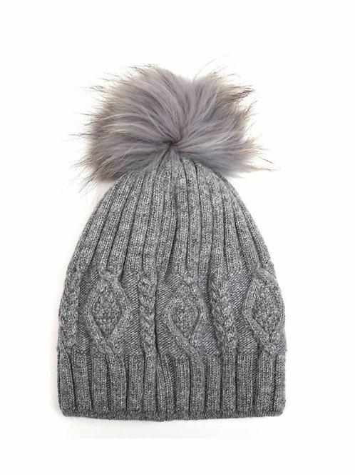 Fair Isle bobble hat