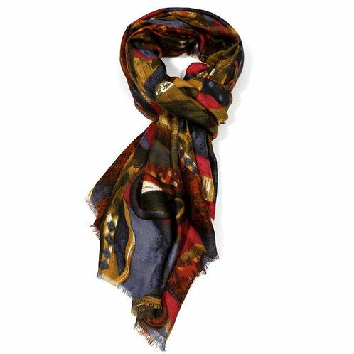 Geo print scarf