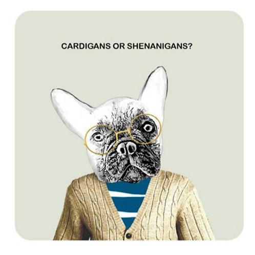 Cardigans or shenanigans-coaster