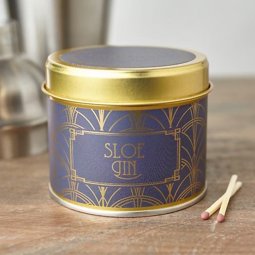 Sloe gin tin candle- Happy hour collection