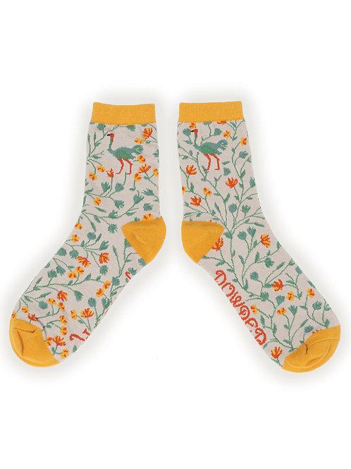 Ostrich ladies ankle socks