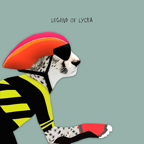 Legend of Lycra -Greeting Card