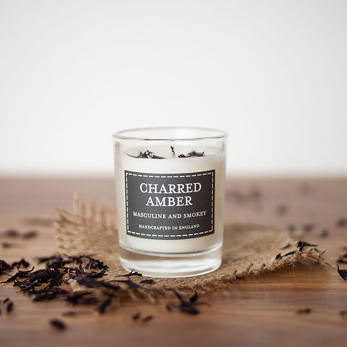 Charred amber votive candle- Pastels collection