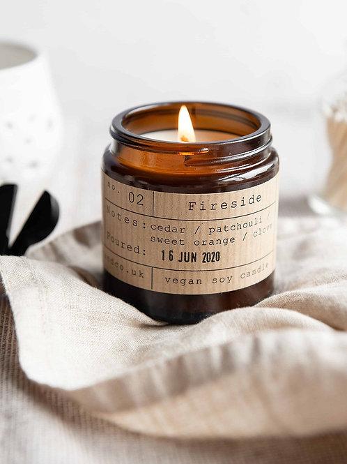Fireside candle jar