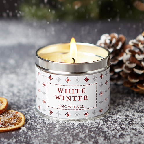 White winter candle  - Noel collection
