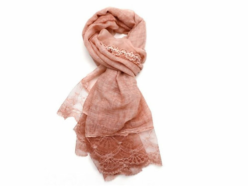 Lace edged scarf
