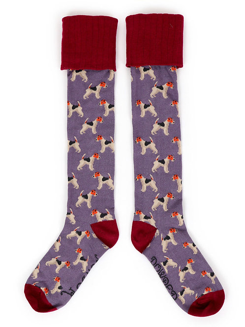 Fox Terrier Boot Sock
