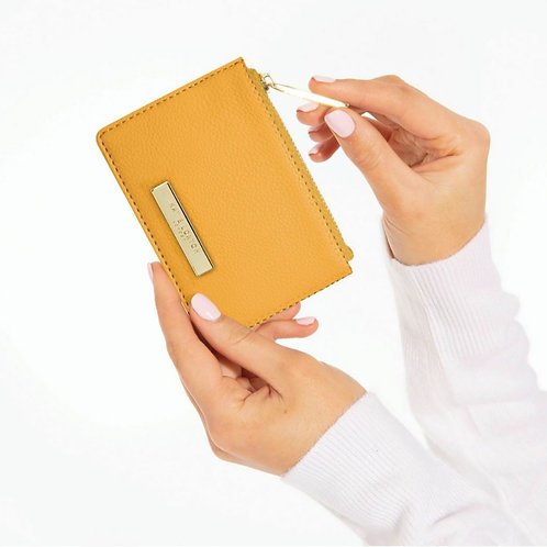 Alise soft pebble card holder- Ochre