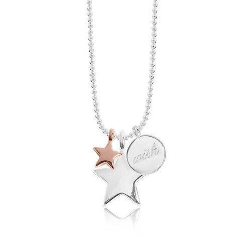Long three wish charm necklace (1226)
