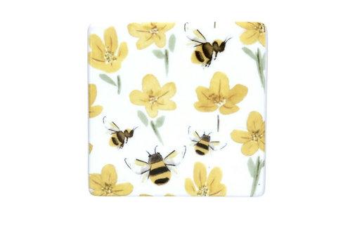 Buttercup bee coaster