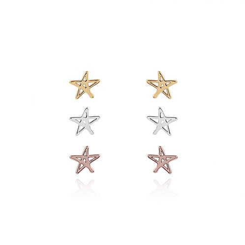 Florence Outline Star Earring Set