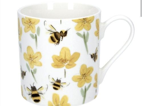 Buttercup bee China mug