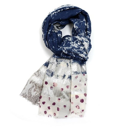 Silver Paint Trail Scarf