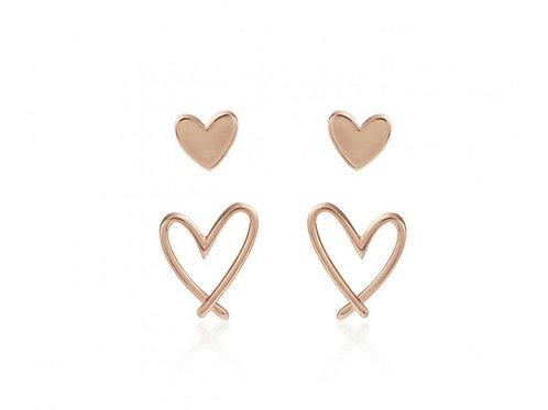 Florrie heart stud earrings