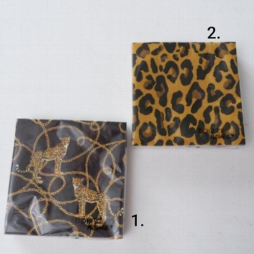 Leopard print napkins
