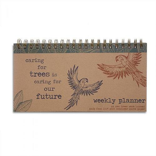 Rainforest hardback weekly planner- recycled kraft