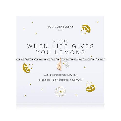 A Little When Life Gives You Lemons Bracelet
