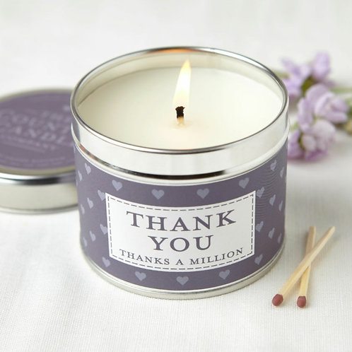 Thank you candle - sentiments collection