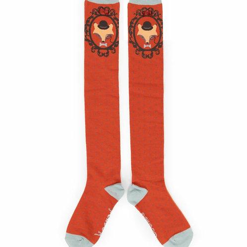 Fox long socks - Tangerine