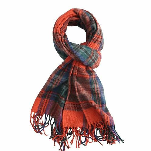 Tartan winter scarf