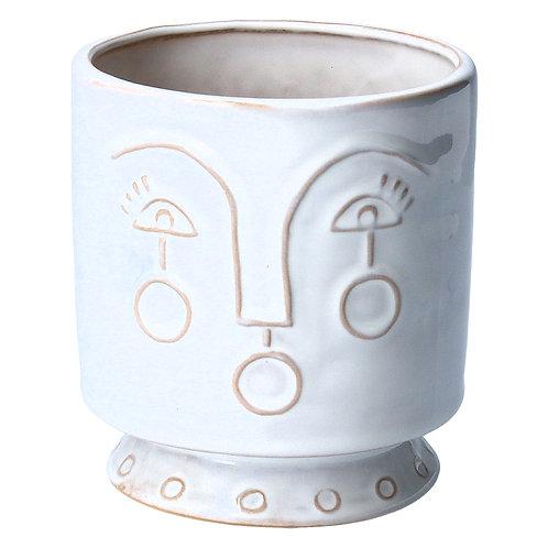 Ceramic white profile pot cover